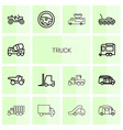 14 truck icons vector image vector image