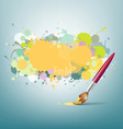 Abstract colorful ink and paint brush background vector image vector image