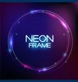 abstract neon finak sale template on dark vector image vector image