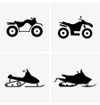 ATV and Snowmobile vector image