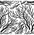 Bare tree seamless pattern vector image