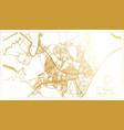 bissau republic guinea-bissau city map in vector image