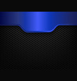 black and blue metal background vector image vector image