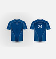 Blue and white layout football sport t-shirt