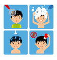 boy with lice vector image vector image