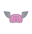 Brain with wings Symbol logo ideas Brain with vector image vector image