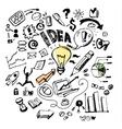 Business doodles Idea vector image vector image