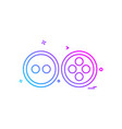 buttons icon design vector image vector image