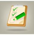 Checklist with a pencil vector image