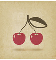 cherry old background vector image vector image