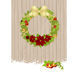 christmas wooden vector image