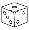 classic dice icon outline style vector image vector image