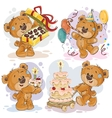 clip art teddy bear wishes you a vector image