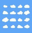 cloud cartoon set different cartoon clouds vector image vector image