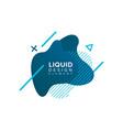 color abstract liquid shape fluid overlap vector image