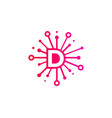 d share letter logo icon design vector image