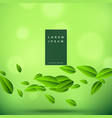 eco green background with floating leaves vector image vector image