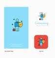 employee company logo app icon and splash page vector image vector image