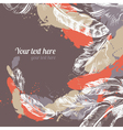 Feather background vector image vector image