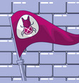 flag with bug and wall vector image vector image