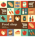 food shop vector image vector image