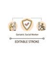 geriatric social worker concept icon vector image vector image
