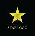 gold star logo vector image vector image