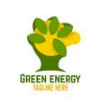 green energy logo vector image vector image
