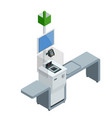isometric self-service cashier or terminal point vector image vector image