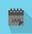 january calendar icon in modern flat style vector image vector image