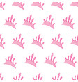 light pink princess crowns pattern background vector image vector image