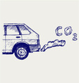 Machine exhaust gases vector image vector image