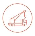 Mobile crane line icon vector image vector image