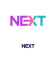 next word with arrow letter logo design template vector image vector image
