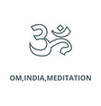 omindiameditation line icon linear vector image