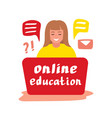 online education 2 vector image vector image