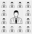 Out line business man icons set