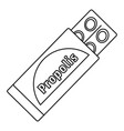 propolis pills icon outline style vector image vector image