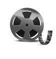 realistic detailed 3d reel of film tape vector image vector image