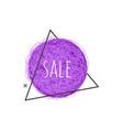 sale grunge banner - ultra violet scratch round vector image vector image