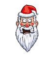 Santa Claus Cowardly Head vector image vector image