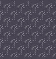 seamless pattern white horses violet background vector image vector image