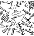 seamless pattern with different corkscrews vector image vector image