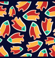 seamless patterns with fish-02 vector image