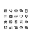 set icons of contact us vector image
