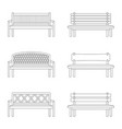 set of contours of bench vector image vector image