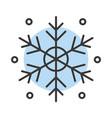 snowflake color icon vector image