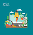 space exploration flat style design vector image vector image