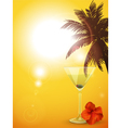 summer cocktail background portrait vector image vector image