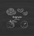 tangerine fruit drawing hand drawn mandarin vector image vector image